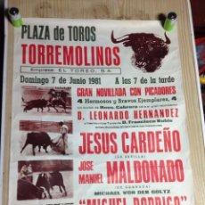 Carteles Toros: PLAZA DE TOROS DE TORREMOLINOS 1981. Lote 152975058