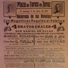 Carteles Toros: CARTEL. PLAZA DE TOROS DE JEREZ DE LA FRONTERA 1935. LEER.. Lote 153153578