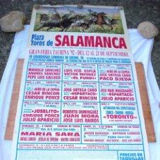 Carteles Toros: CARTEL TOROS SALAMANCA - SEPTIEMBRE DE 1992 - JOSELITO, ESPARTACO, UBRIQUE, NIÑO CAPEA, ORTEGA CANO. Lote 153224538