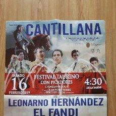 Carteles Toros: CARTEL DE TOROS CANTILLANA 2019. Lote 153449090