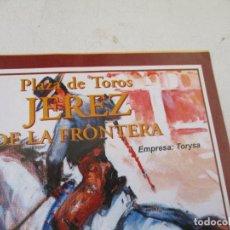 Carteles Toros: PLAZA DE TOROS JEREZ DE LA FRONTERA, MIERCOLES 12 DE MAYO DE 2004, CORRIDA DE REJONES-PROGRAMA. Lote 153471226