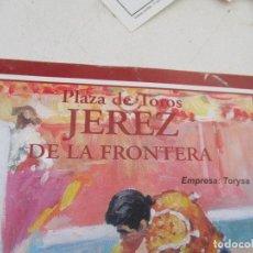 Carteles Toros: PLAZA DE TOROS JEREZ DE LA FRONTERA, DOMINGO 16 DE MAYO DE 2004, CORRIDA DE TOROS- PROGRAMA. Lote 153471566