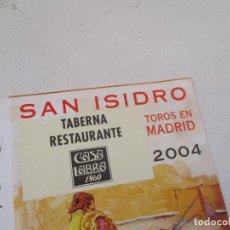 Affissi Tauromachia: SAN ISIDRO 2004 -TOROS EN MADRID-PROGRAMA DE MANO- DÍPTICO. Lote 153478302