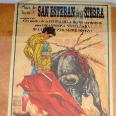 Carteles Toros: CARTEL TOROS SAN ESTEBAN DE LA SIERRA - SEPTIEMBRE DE 1991 - NOVILLADA - MARIO HERRERO. Lote 153480194