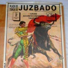 Carteles Toros: CARTEL TOROS EN JUZBADO - AGOSTO DE 1992 - DE LA CALLE, JUAN DIEGO, SÁNCHEZ, PORRITAS Y LERNA. Lote 153481602