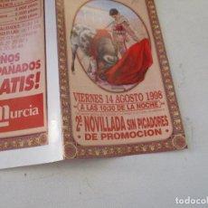 Carteles Toros: PLAZA DE TOROS ALICANTE 2ª NOVILLADA SIN PICADORES -1998-PROGRAMA DE MANO- DÍPTICO. Lote 153486090