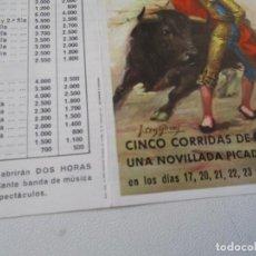 Carteles Toros: PLAZA DE TOROS ALICANTE FERIA TAURINA DE SAN JUAN 1990-PROGRAMA DE MANO- DÍPTICO. Lote 153486474