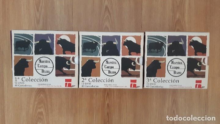 CARTEL TOROS DVD 30 ORIGINAL NUESTRO CAMPO BRAVO COLECCION COMPLETA DESCATALOGADO DIFÍCIL DE ENCONTR (Coleccionismo - Carteles Gran Formato - Carteles Toros)