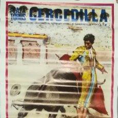 Carteles Toros: ANTIGUO Y BONITO CARTEL DE TOROS - CERCEDILLA - NOVILLADA - 1984 - CHICO LEAL, CAÑERO Y LUIS ARANDA . Lote 153591886