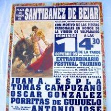 Carteles Toros: CARTEL TOROS SANTIBÁÑEZ DE BÉJAR - OCTUBRE DE 1995 - ESPLA, CAMPUZANO, GONZÁLEZ, PORRITAS, A. JOSÉ. Lote 153606514
