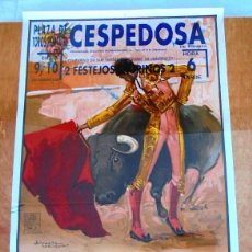 Carteles Toros: CARTEL TOROS CESPEDOSA - SEPTIEMBRE DE 1995 - JUAN JOSÉ MESA, AVELINO GUERRA, PORRITAS Y DAVID RODA. Lote 153606622