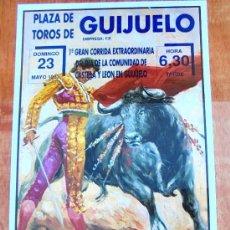 Carteles Toros: CARTEL TOROS EN GUIJUELO - MAYO DE 1993 - SÁNCHEZ MARCOS, RUI BENTO, JOSÉ LUIS RAMOS Y PORRITAS. Lote 153606734