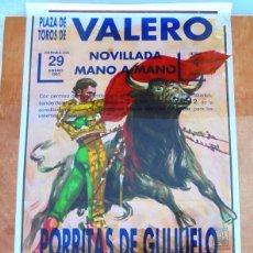 Carteles Toros: CARTEL TOROS EN VALERO - ENERO DE 1993 - NOVILLADA MANO A MANO - PORRITAS DE GUIJUELO Y DAVID RODA. Lote 153607082