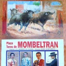 Carteles Toros: CARTEL TOROS EN MOMBELTRÁN - AGOSTO DE 1997 - CAMPUZANO, ESPLA, PORRITAS, APARICIO, SAN JOSÉ, PERITA. Lote 153607290