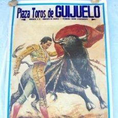 Carteles Toros: CARTEL TOROS GUIJUELO - AGOSTO DE 1997 - VÁZQUEZ, SÁNCHEZ, PORRITAS, LA CALLE, BEJARANO, PATROCINIO. Lote 153607602