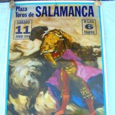 Carteles Toros: CARTEL TOROS SALAMANCA - JUNIO DE 1994 - ORTEGA CANO, MUÑOZ, CAMINO, CABALLERO, SÁNCHEZ Y CLEMARES. Lote 153608086