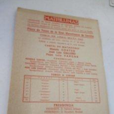 Carteles Toros: PLAZA DE TOROS DE LA REAL MAESTRANZA DE SEVILLA 1984-PROGRAMA DE MANO- 23 X 16 CM.-UNA HOJA. Lote 153691886