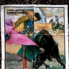 Carteles Toros: CARTEL DE TOROS DE POZOBLANCO CORDOBA CON - PAQUIRRI - EL SORO Y EL YIYO - 26 SEP DE 1984-DE REVISTA. Lote 153805018
