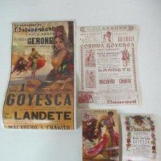 Carteles Toros: 4 CARTELES DE TOROS GERONA (GIRONA) -CORRIDA GOYESCA-CARTEL PARA TIENDA, DE MANO, ETC -9 AGOSTO 1970. Lote 153933130