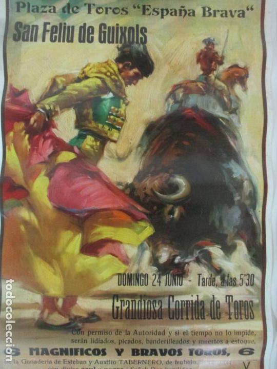 Carteles Toros: 2 Carteles de Toros - San Feliu de Guixols - Cartel de Tienda - Toreros - Año 1962 - Foto 3 - 153933782