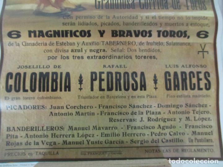 Carteles Toros: 2 Carteles de Toros - San Feliu de Guixols - Cartel de Tienda - Toreros - Año 1962 - Foto 4 - 153933782