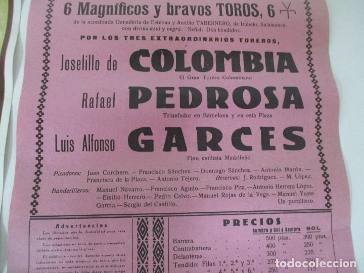 Carteles Toros: 2 Carteles de Toros - San Feliu de Guixols - Cartel de Tienda - Toreros - Año 1962 - Foto 7 - 153933782