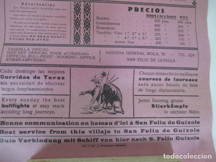 Carteles Toros: 2 Carteles de Toros - San Feliu de Guixols - Cartel de Tienda - Toreros - Año 1962 - Foto 8 - 153933782
