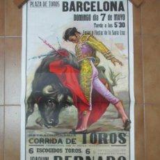 Carteles Toros: POSTER, CARTEL DE TOROS, BARCELONA - FERIAS Y FIESTAS DE SANTA CRUZ - ORTEGA CANO. Lote 153935142