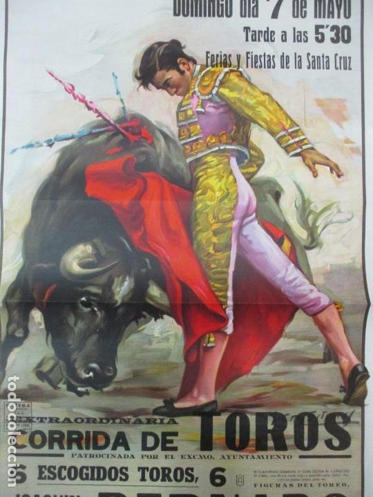Carteles Toros: Poster, Cartel de Toros, Barcelona - Ferias y Fiestas de Santa Cruz - Ortega Cano - Foto 2 - 153935142