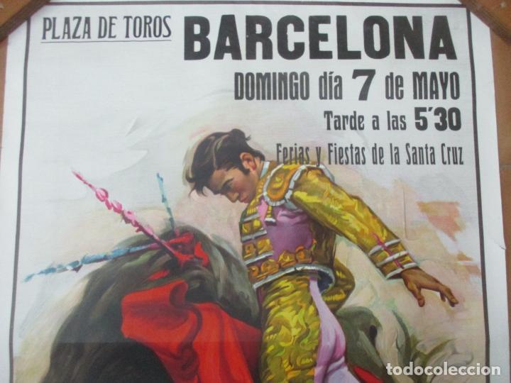 Carteles Toros: Poster, Cartel de Toros, Barcelona - Ferias y Fiestas de Santa Cruz - Ortega Cano - Foto 5 - 153935142