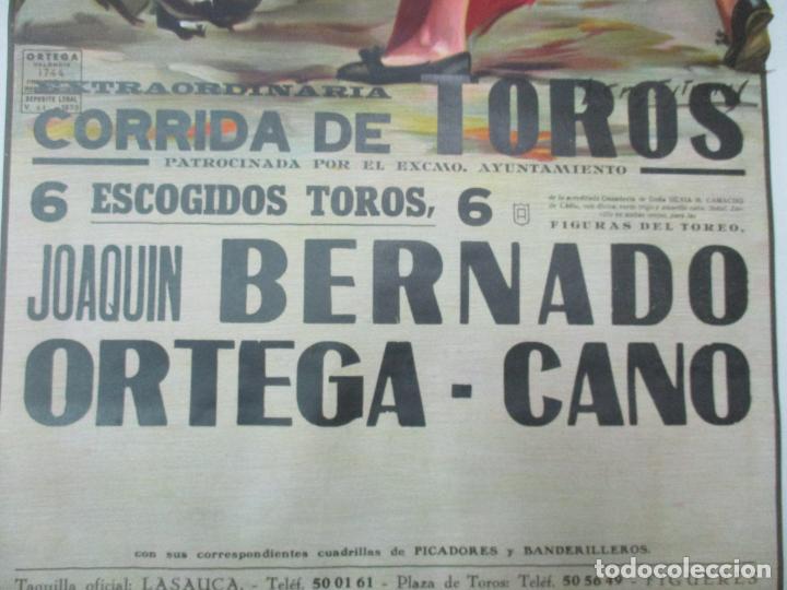 Carteles Toros: Poster, Cartel de Toros, Barcelona - Ferias y Fiestas de Santa Cruz - Ortega Cano - Foto 6 - 153935142