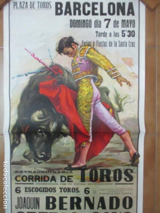Carteles Toros: Poster, Cartel de Toros, Barcelona - Ferias y Fiestas de Santa Cruz - Ortega Cano - Foto 8 - 153935142