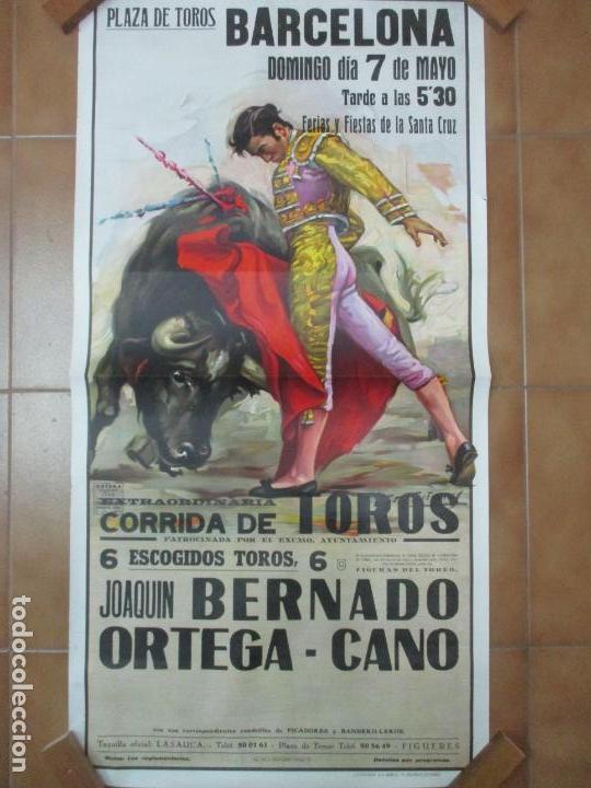 Carteles Toros: Poster, Cartel de Toros, Barcelona - Ferias y Fiestas de Santa Cruz - Ortega Cano - Foto 9 - 153935142