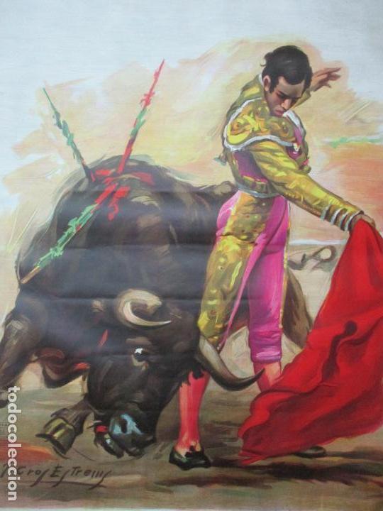 Carteles Toros: Poster, Cartel de Toros, Barcelona - Ferias y Fiestas de Santa Cruz - Ortega Cano - Foto 13 - 153935142