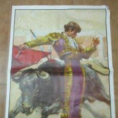 Carteles Toros: POSTER, GRAN CARTEL DE TOROS - LITOGRAFÍA, LAMINOGRAF - AUTOR, BALLESTAR . Lote 153938866