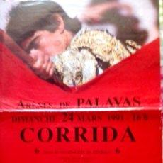 Carteles Toros: ARENES DE PALAVAS. (FRANCIA). 1991. . Lote 154374854