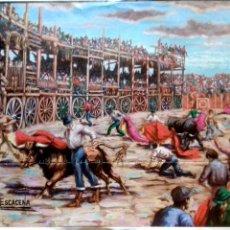 Carteles Toros: LAMINA. MOTIVOS TAURINOS. ESCACENA.. Lote 154384502