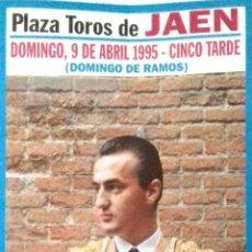 Carteles Toros: CARTEL. PLAZA DE TOROS JAEN. GRAN ACONTECIMIENTO TAURINO. 1995. LEER.. Lote 154492626