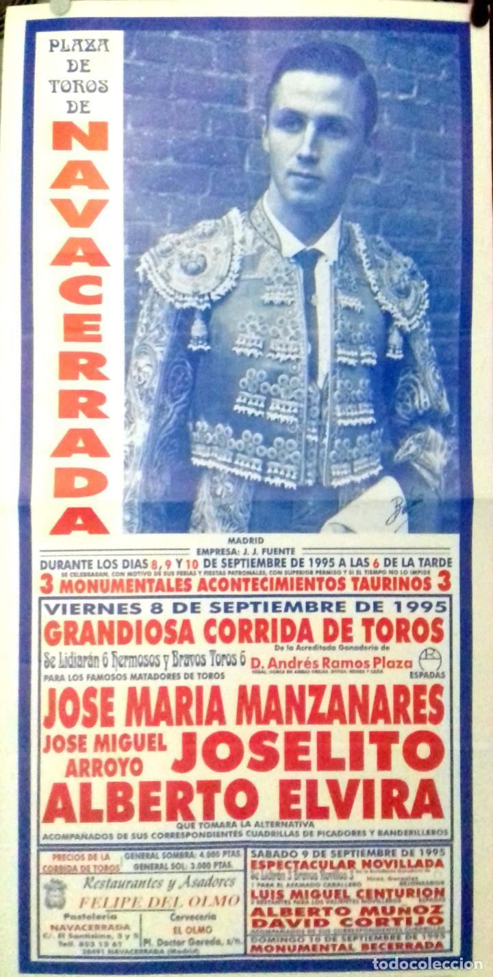 CARTEL. PLAZA DE TOROS NAVACERRADA. 1995. LEER. (Coleccionismo - Carteles Gran Formato - Carteles Toros)