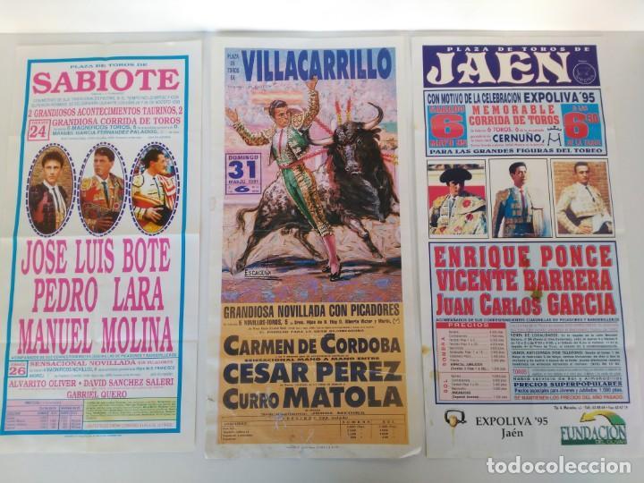 LOTE DE 3 CARTELES DE TOROS, 21X45CM (Coleccionismo - Carteles Gran Formato - Carteles Toros)