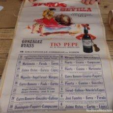 Carteles Toros: CARTÉL EN SEDA.48 X 30 CTMS.SEVILLA 1973.. Lote 155233462