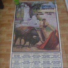Carteles Toros: CARTEL DE TOROS CON LAS CORRIDAS DE LA FERIA DE ABRIL DE SEVILLA DE 1996. CURRO ROMERO. Lote 155460406