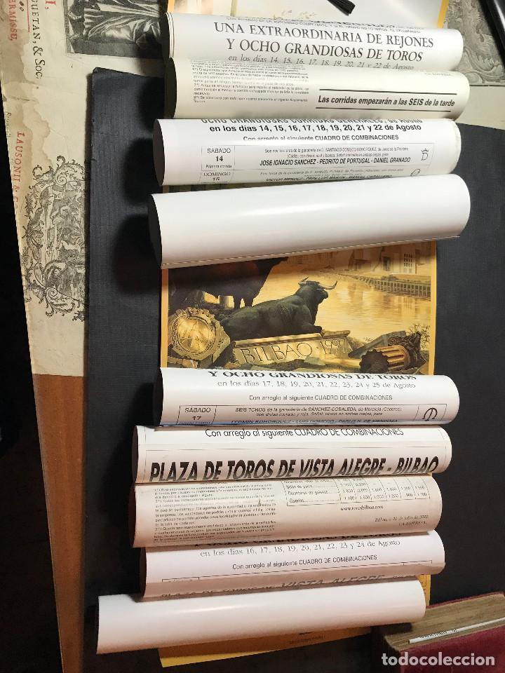 10 CARTELES DE TOROS DE BILBAO 59X26 CM. ENTRE 1993 Y 2014. (Coleccionismo - Carteles Gran Formato - Carteles Toros)