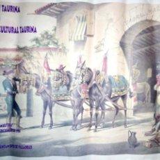 Carteles Toros: CARTEL. FEDERACION TAURINA VALLADOLID. 1.ª SEMANA CULTURAL TAURINA. 1996.. Lote 155992378