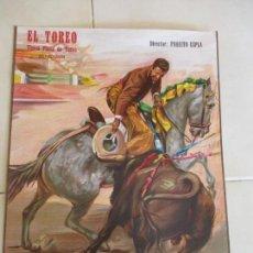 Carteles Toros: CARTEL DE: EL TOREO-TÍPICA PLAZA DE TOROS- BENIDORM- -S/F- DIRECTOR: PAQUITO ESPLA-44 X 32 CM.. Lote 156506090