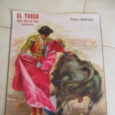 Carteles Toros: CARTEL DE: EL TOREO-TÍPICA PLAZA DE TOROS- BENIDORM- -S/F- DIRECTOR: PAQUITO ESPLA-44 X 32 CM.. Lote 156506166