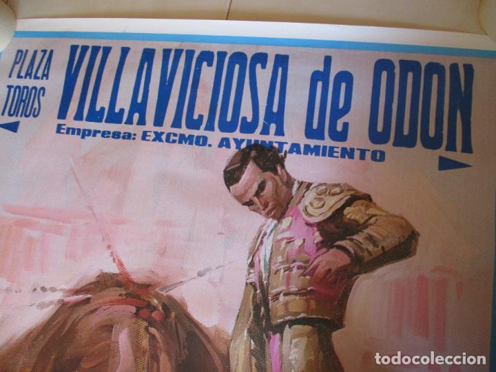 Carteles Toros: CARTEL; PLAZA TOROS VILLAVICIOSA DE ODON- SEPTIEMBRE DE 1989-MIDE 149 X 69 - Foto 2 - 156510382