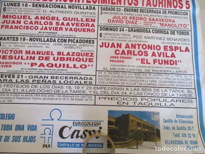 Carteles Toros: CARTEL; PLAZA TOROS VILLAVICIOSA DE ODON- SEPTIEMBRE DE 1989-MIDE 149 X 69 - Foto 7 - 156510382