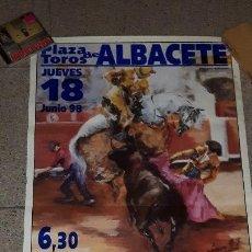 Carteles Toros: CARTEL TOROS ALBACETE CORRIDA ASPRONA 1998 PRECIOSO Y DIFÍCIL DE ENCONTRAR. Lote 157850038