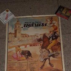 Carteles Toros: CARTEL TOROS ALGEMESI 1987 PRECIOSO Y DIFÍCIL DE ENCONTRAR. Lote 157851074